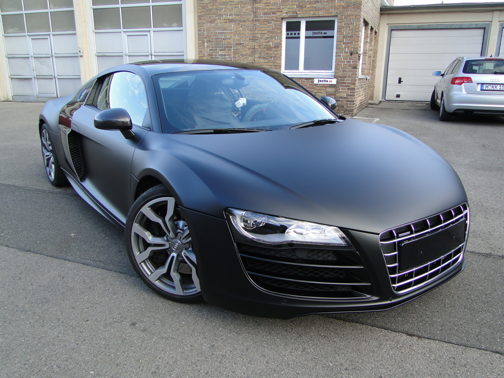 audi r8 v10 schwarz matt. Black Bedroom Furniture Sets. Home Design Ideas